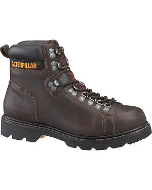 "Caterpillar 6"" Alaska FX Lace-Up Work Boots - Round Toe"
