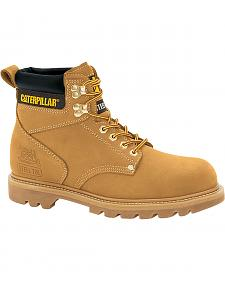 "Caterpillar 6"" Second Shift Lace-Up Work Boots - Steel Toe"