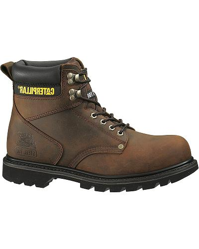 """Caterpillar 6"""" Second Shift Lace-Up Work Boots Steel Toe Western & Country P89817"""