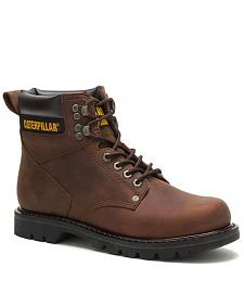 "Caterpillar 6"" Second Shift Lace-Up Work Boots - Round Toe"