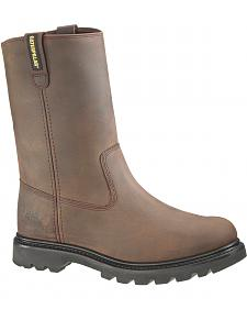 Caterpillar Revolver Pull-On Work Boots - Round Toe