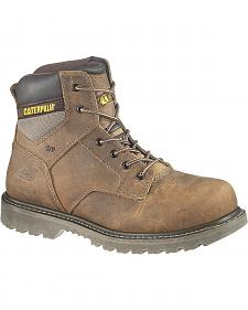 "Caterpillar 6"" Gunnison Lace-Up Work Boots - Steel Toe"