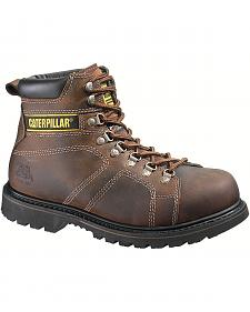 "Caterpillar 6"" Silverton Lace-Up Work Boots - Round Toe"