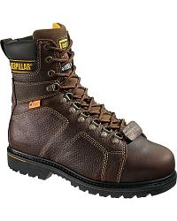 CAT Silverton Metatarsal Guard Lace-Up Work Boots - Steel Toe at Sheplers