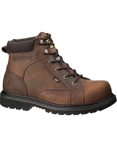Caterpillar 6 quot whiston lace up work boots round toe