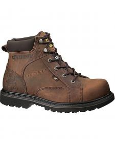 "Caterpillar 6"" Whiston Lace-Up Work Boots - Round Toe"