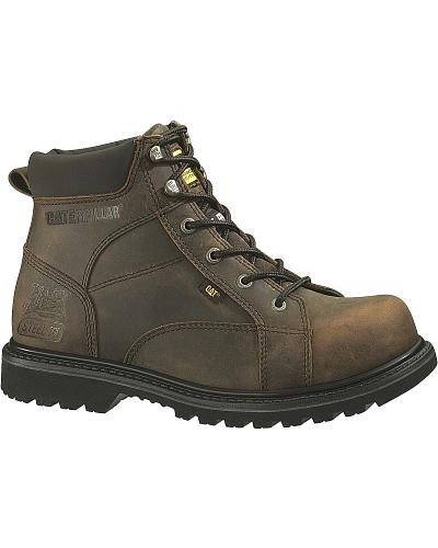 Caterpillar 6 Whiston Lace Up Work Boots Steel Toe