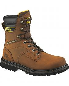 "Caterpillar 8"" Salvo Waterproof & Insulated Lace-Up Work Boots - Steel Toe"