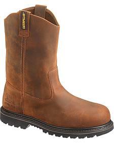Caterpillar Edgework Pull-On Work Boots - Steel Toe