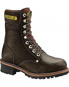 Caterpillar Black Logger Boots - Steel Toe