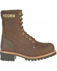 Caterpillar Chocolate Logger Boots - Steel Toe