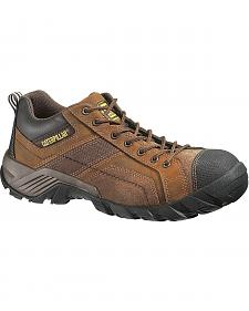 Caterpillar Argon Lace-Up Work Shoes - Round Toe