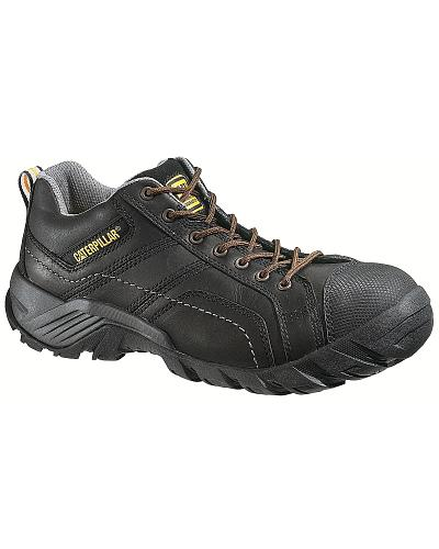 Caterpillar Argon Black Lace-Up Work Shoes Composition Toe Western & Country P89955