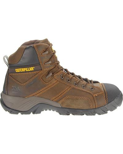 "Caterpillar 6"" Argon Waterproof Lace-Up Work Shoes Composition Toe Western & Country P90091"