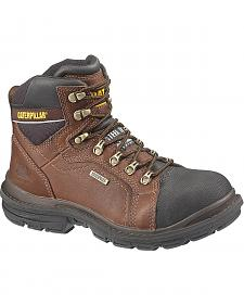 "Caterpillar 6"" Manifold Waterproof Lace-Up Work Boots - Steel Toe"