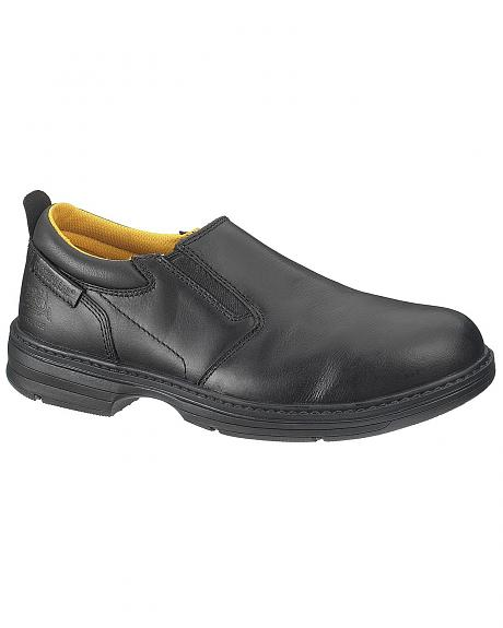 caterpillar conclude slip on work shoes steel toe sheplers