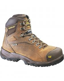 "Caterpillar Diagnostic Waterproof & Insulated 6"" Lace-Up Work Boots - Round Toe"