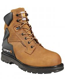 "Carhartt 6"" Waterproof Lace-Up Work Boots - Round Toe"