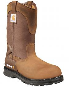 Carhartt Waterproof Wellington Pull-On Work Boots - Round Toe