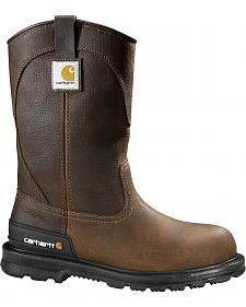 Carhartt Unlined Wellington Pull-On Work Boots - Round Toe