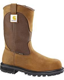 Carhartt Waterproof Wellington Pull-On Work Boots - Steel Toe