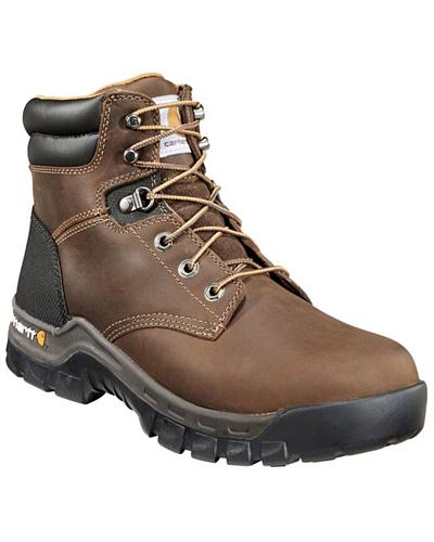 "Carhartt Work Flex 6"" Lace-Up Work Boots Round Toe Western & Country CMF6066"