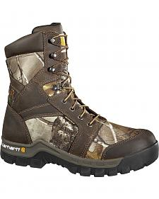 "Carhartt Waterproof Camo 8"" Lace-Up Work Boots - Composition Toe"