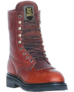 "Dan Post Portland 8"" Lace-Up Work Boots - Round Toe"