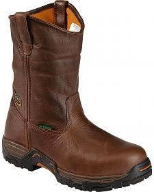 Georgia Boot Diamond Trax Waterproof Pull-On Wellington Work Boots - Round Toe