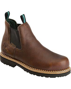 Georgia Boot Romeo Waterproof Slip-On Work Shoes - Round Toe