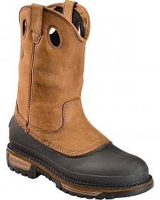 Georgia Mud Dog Waterproof Pull-On Work Boots - Steel Toe