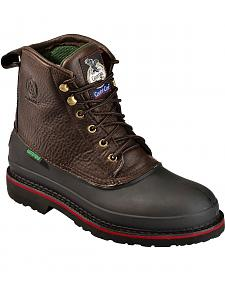"Georgia Boot Mud Dog Waterproof 6"" Lace-Up Work Boots - Steel Toe"