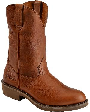 Georgia Boot Carbo Tec Wellington Pull-On Work Boots - Round Toe