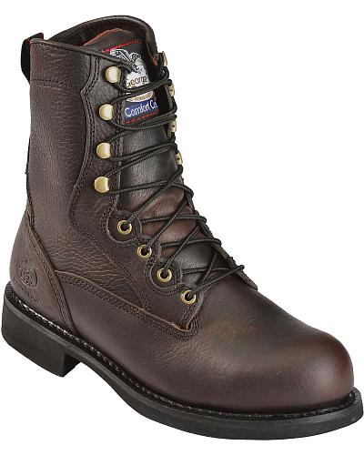 Georgia Boot Carbo Tec 8 Lace Up Work Boots Round Toe