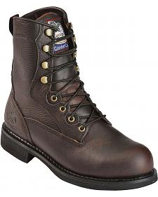 "Georgia Boot Carbo-Tec 8"" Lace-Up Work Boots - Round Toe"