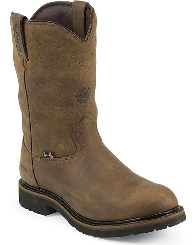 Justin Original Waterproof & Insulated Work Boots Round Toe Western & Country WK4980