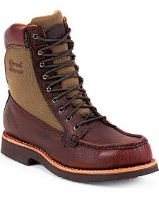 "Chippewa Waterproof 8"" Lace-Up Work Boots - Mocc Toe"