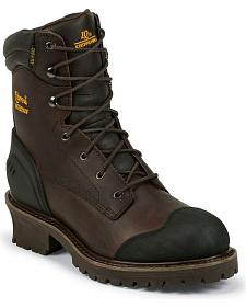 "Chippewa Waterproof & Insulated 8"" Lace-Up Logger Boots - Composition Toe"