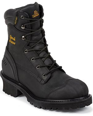 "Chippewa Waterproof & Insulated 8"" Lace-Up Work Boots - Composition Toe"