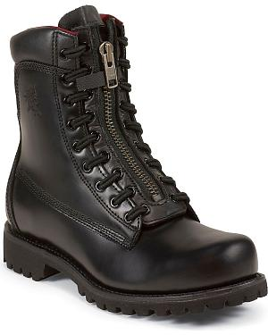 "Chippewa Front 8"" Lace Zip-Up Work Boots - Steel Toe"
