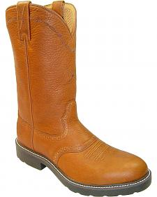 Twisted X Saddle Vamp Pull-On Work Boots - Steel Toe