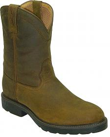 Twisted X Distressed Pull-On Work Boots - Round Toe