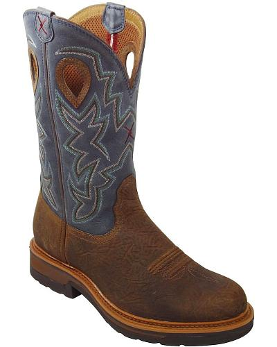 Twisted X Pull-On Work Boots Composition Toe Western & Country MLCC003