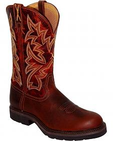 Twisted X Western Pull-On Work Boots - Round Toe