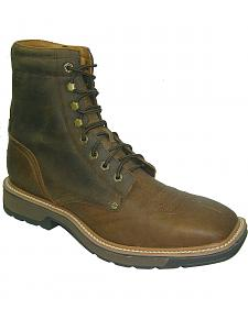 "Twisted X Lite 8"" Lace-Up Work Boots - Steel Toe"
