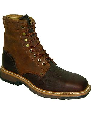 "Twisted X Lite 8"" Lace-Up Waterproof Work Boots -Steel Toe"