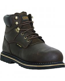 McRae Men's Steel Toe Internal Met Guard Lace Up Work Boots