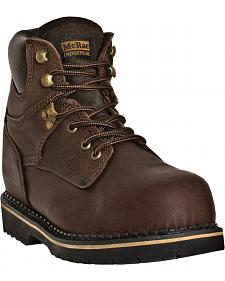 "McRae 6"" Lace-Up Work Boots - Round Toe"
