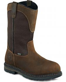 Red Wing Irish Setter Ramsey Waterproof Pull-On Work Boots - Round Toe
