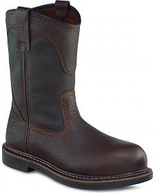 Red Wing Irish Setter Farmington Pull-On Work Boots - Round Toe
